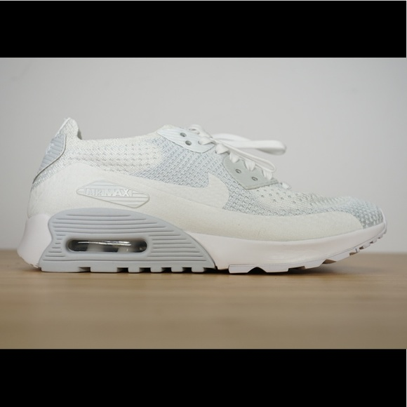 Details about Nike Air Max 90 Ultra 2.0 Flyknit Shoes Running White 881109 104 Womens Size 8
